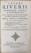 Riviere, Medical works, Cologne, 1670
